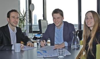Die mediendesigner Holger Velke, Jörg Meier, Andrea Will